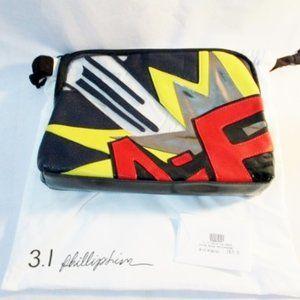 NEW 3.1 PHILIP LIM BANG PATCHWORK POP ART Zip Bag